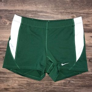 NIKE Dri-Fit Forest Green Spandex w/White Panels